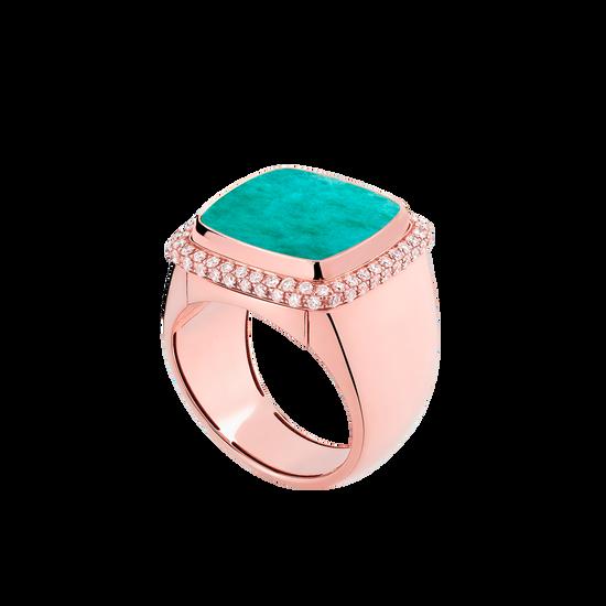 天河石 Pain de Sucre系列可替换宝石戒指