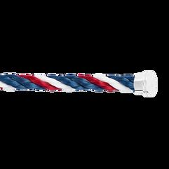 蓝色,白色和红色Emblem链绳
