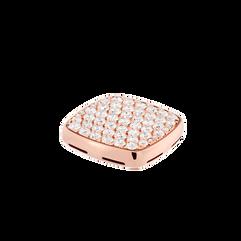 18k玫瑰金图章,镶嵌钻石