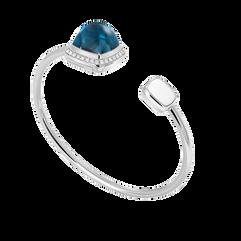 伦敦蓝托帕石 Pain de Sucre系列可替换宝石手环