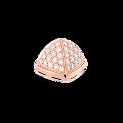 18k玫瑰金凸圆形主石,镶嵌钻石