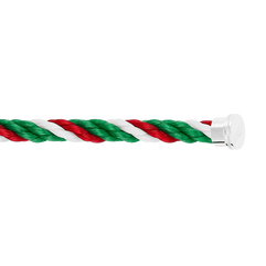 绿色,白色和红色Emblem链绳