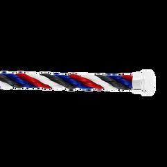 蓝色,白色,红色和黑色Emblem链绳