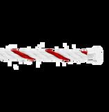 红色和白色Emblem链绳