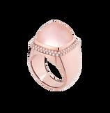 粉红石英 Pain de Sucre系列可替换宝石戒指